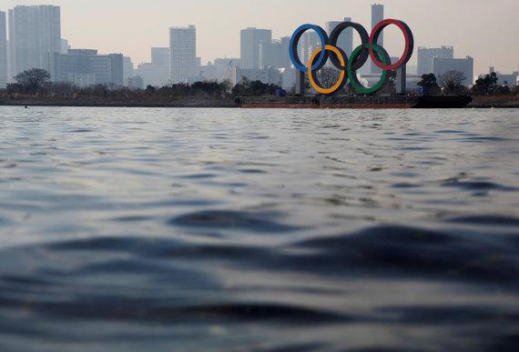 """""""Reuters""""/""""Scanpix"""" nuotr./Tokijas skaičiuoja 100 likusių dienų iki olimpinių žaidynių."""