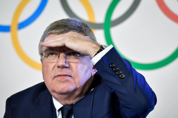 """AFP/""""Scanpix"""" nuotr./IOC vadovas Th.Bachas turės atsakyti į eilę klausimų."""