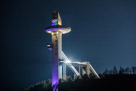 Vytauto Dranginio/LTOK nuotr./Pjongčangas pasirengęs žiemos olimpinių žaidynių atidarymui.