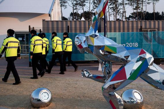 """""""Scanpix"""" nuotr./Pjongčangas pasirengęs žiemos olimpinių žaidynių atidarymui."""