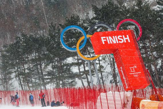 Vyt/Ieva Januškevičiūtė vėl nestartavo – slalomo varžybos atšauktos dėl vėjo.