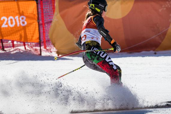 Vytauto Dranginio/LTOK nuotr./Ieva Januškevičiūtė startavo greitojo slalomo varžybose Pjongčange.