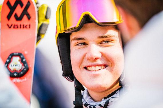 Vytauto Dranginio/LTOK nuotr./Andrejus Drukarovas didžiojo slalomo rungtyje žiemos olimpinėse žaidynėse Pjongčange užėmė 59 vietą.