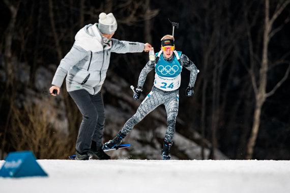 Vytauto Dranginio/LTOK nuotr./Tomas Kaukėnas liko 30-as biatlono bendro starto lenktynėse.