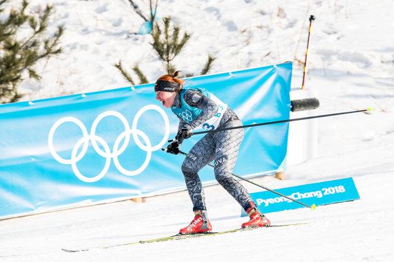 Vytauto Dranginio/LTOK nuotr./Slidininkė Marija Kaznačenko olimpinėse žaidynėse Pjongčange užėmė 73 vietą slidinėjimo 10 km laisvuoju stiliumi rungtyje.