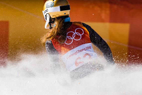 Vytauto Dranginio/LTOK nuotr./Ieva Januškevičiūtė olimpinių žaidynių Pjongčange slalomo rungtyje.