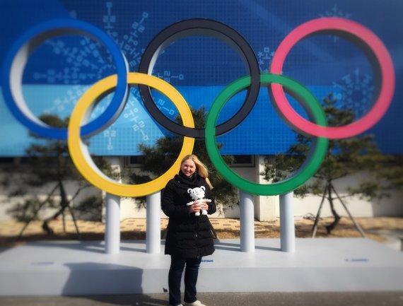 Asmeninio albumo nuotr./Rūta Banytė žiemos olimpinėse žaidynėse Pjongčange atlieka dopingo kontrolės pareigūnės pareigas.
