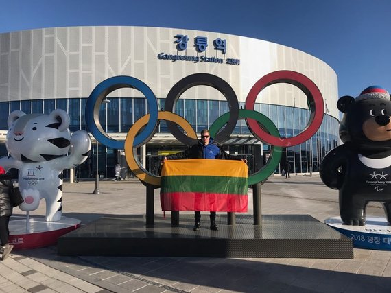 Asmeninio albumo nuotr./Marius Jonelis žiemos olimpinėse žaidynėse Pjongčange.