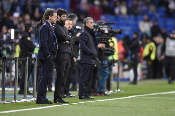 """Scanpix"" nuotr./""Juventus"" prezidentas Andrea Angeli (antras iš kairės)"