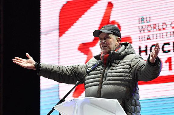 """AFP/""""Scanpix"""" nuotr./Tarptautinės biatlono federacijos vadovas Andresas Bessebergas pasitraukė iš posto."""