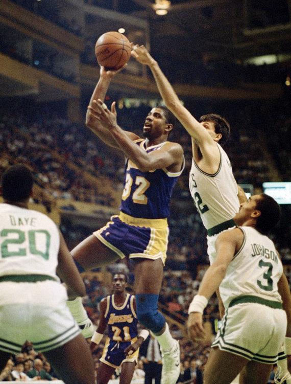 """Scanpix"" nuotr./NBA legendos – Magicas Johnsonas."