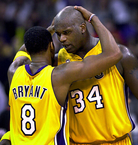 """Scanpix"" nuotr./NBA legendos – Kobe Bryantas ir Shaquille'as O'Nealas."