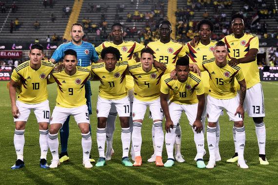 """""""Scanpix"""" nuotr./Kolumbijos futbolo rinktinė"""