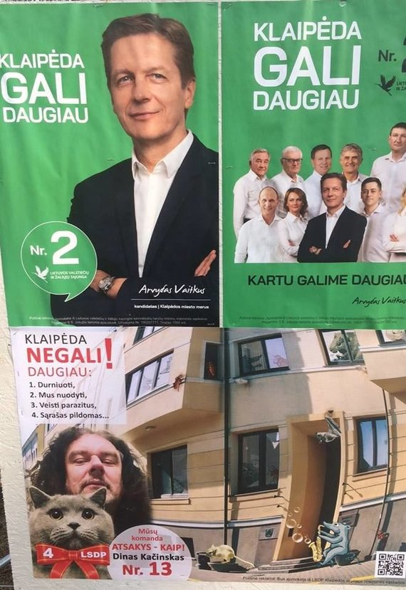 Dino Kačinsko politinė reklama