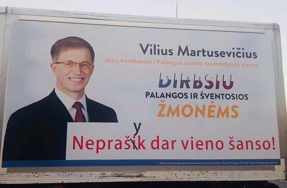 Viliaus Martusevičiaus politinė reklama