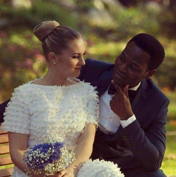 Asmeninio albumo nuotr./Danieli Okeoghene'o Williamso vestuvių akimirka