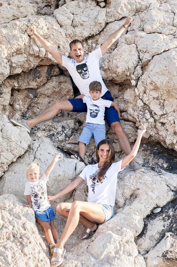 LNK nuotr./Nerijaus Juškos atostogų su šeima akimirka