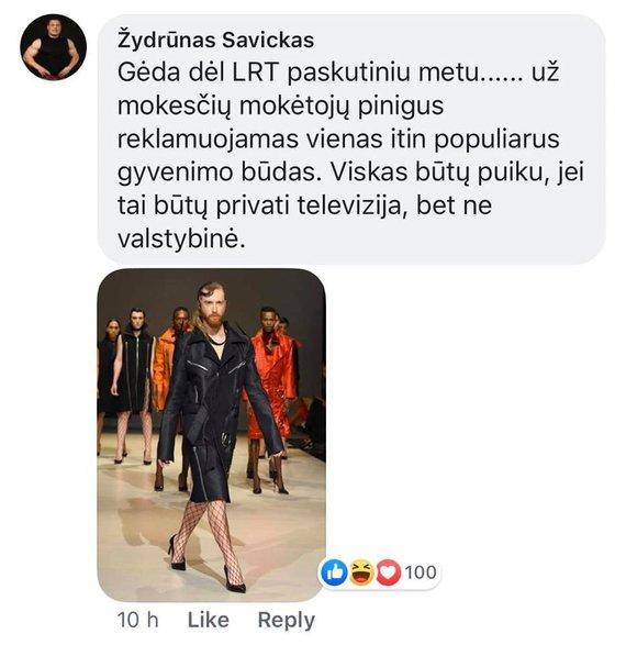Ekrano nuotr./Žydrūno Savicko komentaras