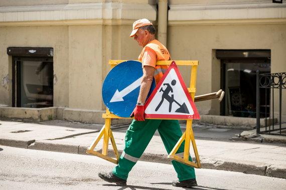 Sauliaus Žiūros nuotr./Darbai Totorių gatvėje