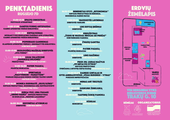 """Organizatorių nuotr./""""Skaitymo festivalio"""" programa"""