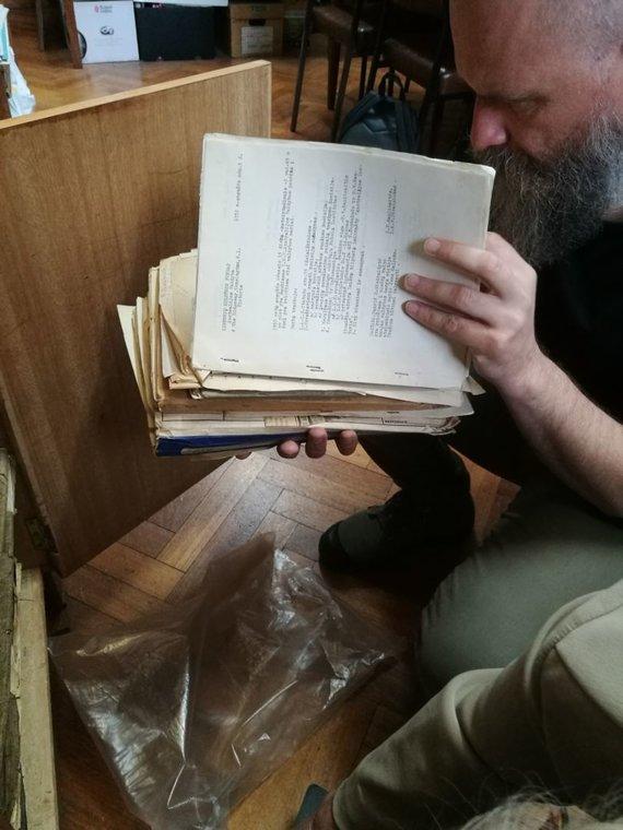 Juozapo Blažiūno nuotr./Melburno bibliotekoje surasti dokumentai.