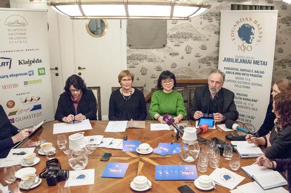 Olesios Kasabovos nuotr./Klaipėdoje paskelbta E.Balsio jubiliejinių metų pradžia