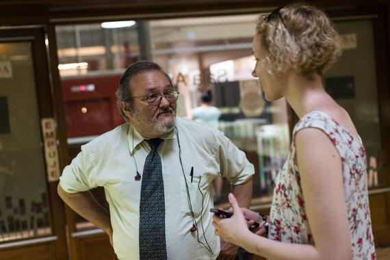 Bertos Tilmantaitės nuotr./Istorikas Daniel, tapęs mūsų herojumi Nacionalinėje Urugvajaus bibliotekoje