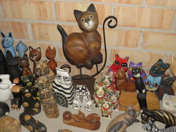 Andriaus Grygelaičio nuotr./Kolekcionierės namuose – rekordinis kiekis kačių
