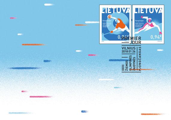 Lietuvos pašto nuotr./Pjongčango olimpinių žaidynių proga pasirodys du nauji pašto ženklai