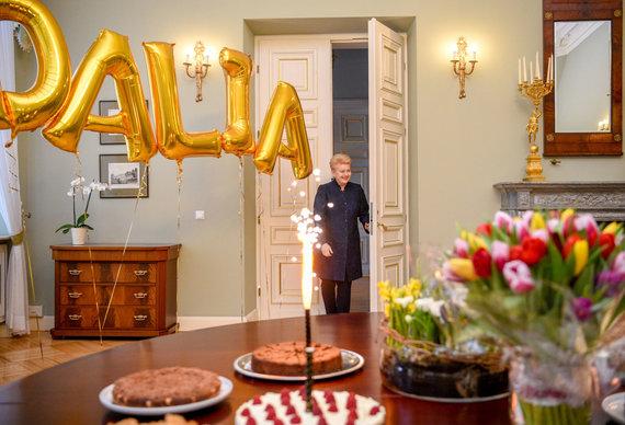Prezidento kanceliarijos nuotr./ Robertas Dačkus/Dalia Grybauskaitė švenčia gimtadienį