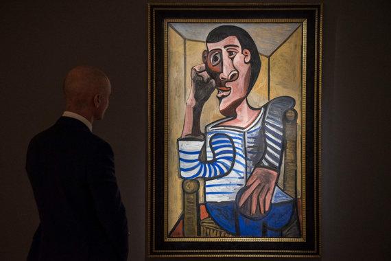 """AFP/""""Scanpix"""" nuotr./P.Picasso paveikslas """"Le Marin"""""""