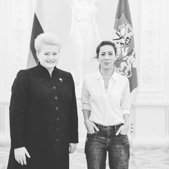 Projekto partnerio nuotr./ Dalia Grybauskaitė ir Victoria Dias