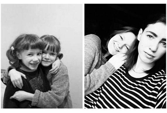 Asmeninio archyvo nuotr./Algimantė Ambrulaitytė su seserimi Laura (prieš 10 metų ir dabar)