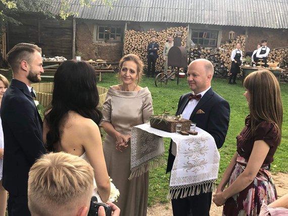 Asmeninio archyvo nuotr./Viktorijos ir Pauliaus Šatkauskų vestuvių akimirka