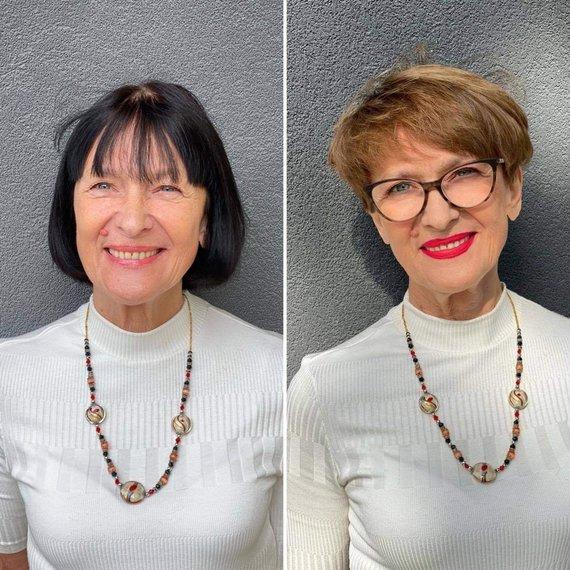 Asmeninio archyvo nuotr./Jurgitos Malakauskaitės kurti stiliaus pokyčiai: Alma prieš ir po jų