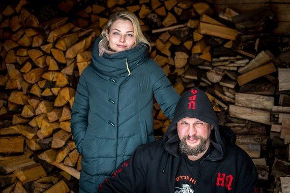Vidmanto Balkūno / 15min nuotr./Laurynas Baltrūnas-Oblius su žmona Daiva