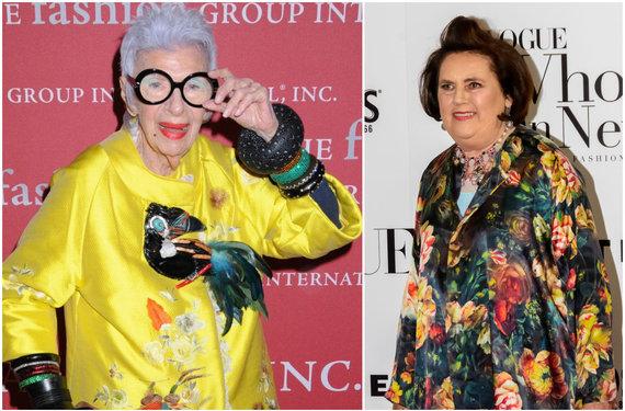 Vida Press nuotr./Iris Apfel (kairėje) ir Suzy Menkes