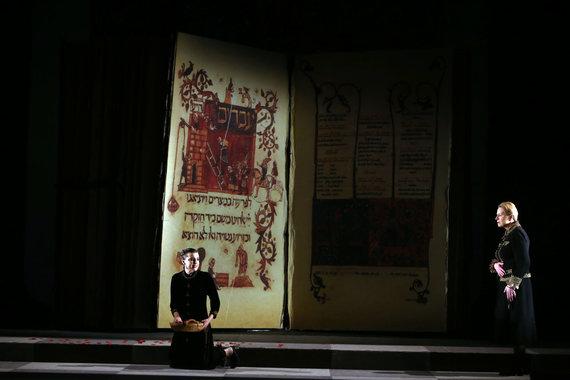 """Aliaus Koroliovo/15min nuotr./Spektaklio """"Natanas išmintingasis"""" pristatymas"""