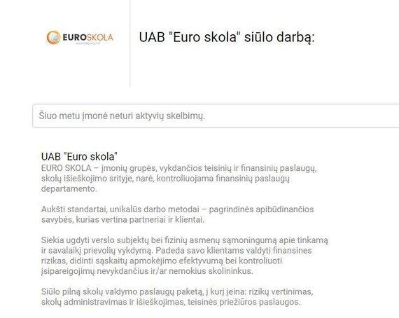 """cvbankas.lt nuotr./Taip """"Euro skola"""" save pristato darbo paieškos svetainėje"""