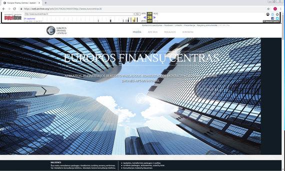 web.archive.org nuotr./Europos finansų centro svetainė eurocentras.lt – šiuo metu nebeveikia