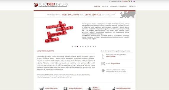 web.archive.org nuotr./Eurodebt. lt internetinė svetainė – šiuo metu neveikia