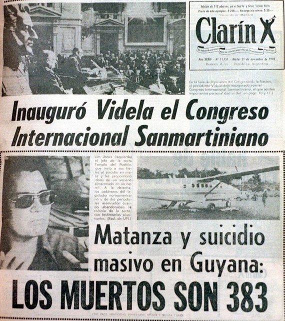 """AFP/""""Scanpix"""" nuotr./Argentinos žiniasklaidoje pranešta apie 1978-ųjų įvykį"""