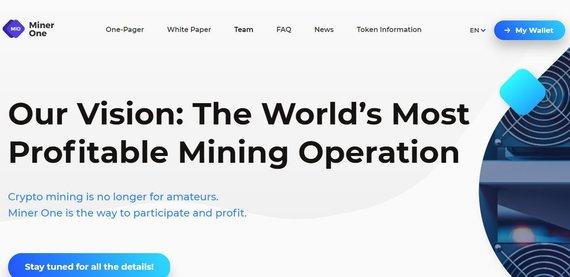 """Miner One"" nuotr./""Miner One"" interneto svetainė"