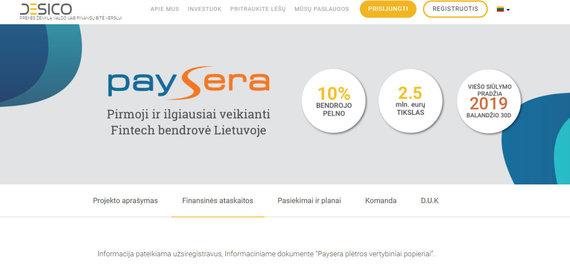 """Desico inf./""""Paysera"""" reklama"""