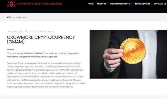 """gmamcrypto.com inf./Nurodoma, esą """"Growmore"""" grupė valdo 24 mlrd. dolerių turto"""