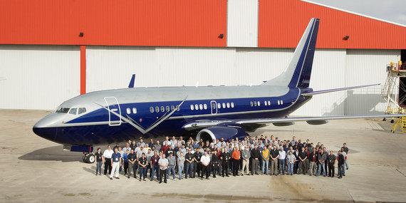 """""""Aleria Luxury Interiors"""" nuotr./""""Aleria Luxury Interiors"""" pranešime pranešė apie pirmąjį įrengtą """"Boeing 737 BBJ"""""""