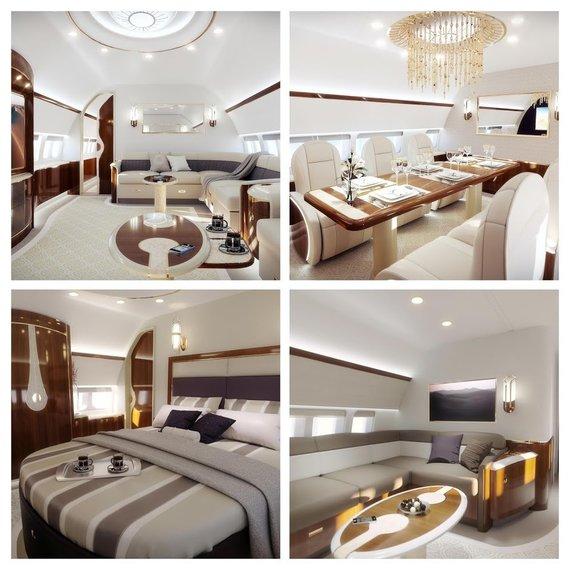 """""""Aleria Luxury Interiors"""" nuotr./""""Aeria"""" svetainėje pateikia įrengto """"Boeing 737 BBJ"""" pavyzdį – tai gali būti ir kitas lėktuvas"""
