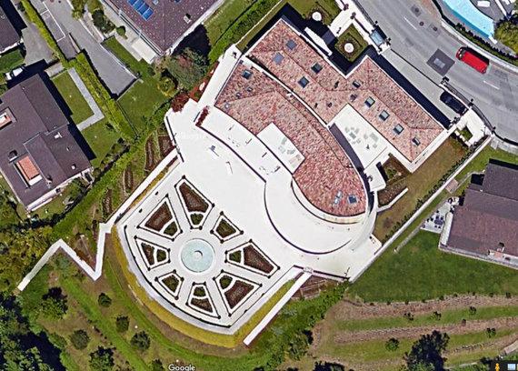 """""""Google Maps"""" nuotr./Su V.Tomaševskiu susijusi vila Šveicarijoje"""