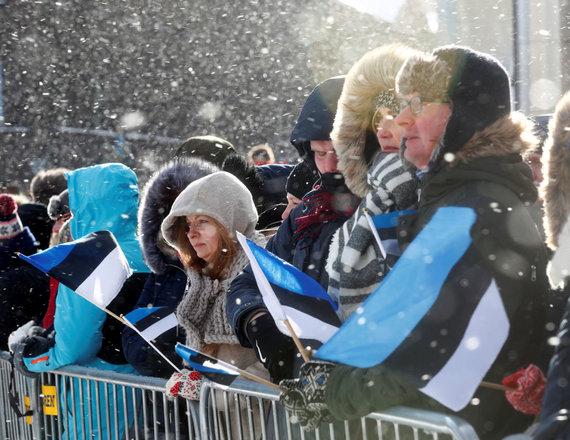 """""""Reuters""""/""""Scanpix"""" nuotr./Estija švenčia nepriklausomybės šimtmetį"""