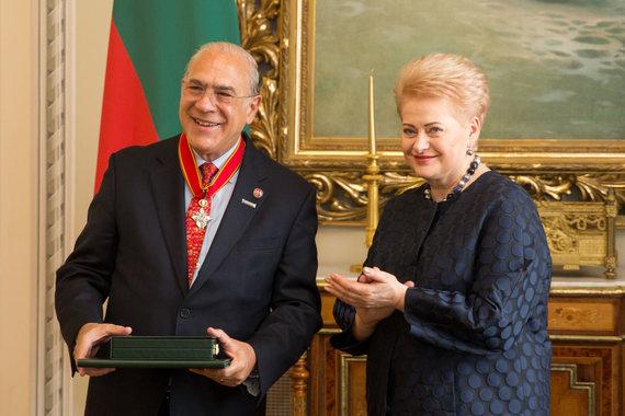 Žygimanto Gedvilos / 15min nuotr./Angelas Gurria ir Dalia Grybauskaitė